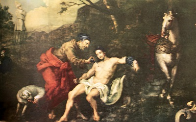 The Good Samaritan. Click to enlarge. See below for provenance.