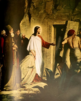 The Raising of Lazarus. Click to enlarge. See below for provenance.
