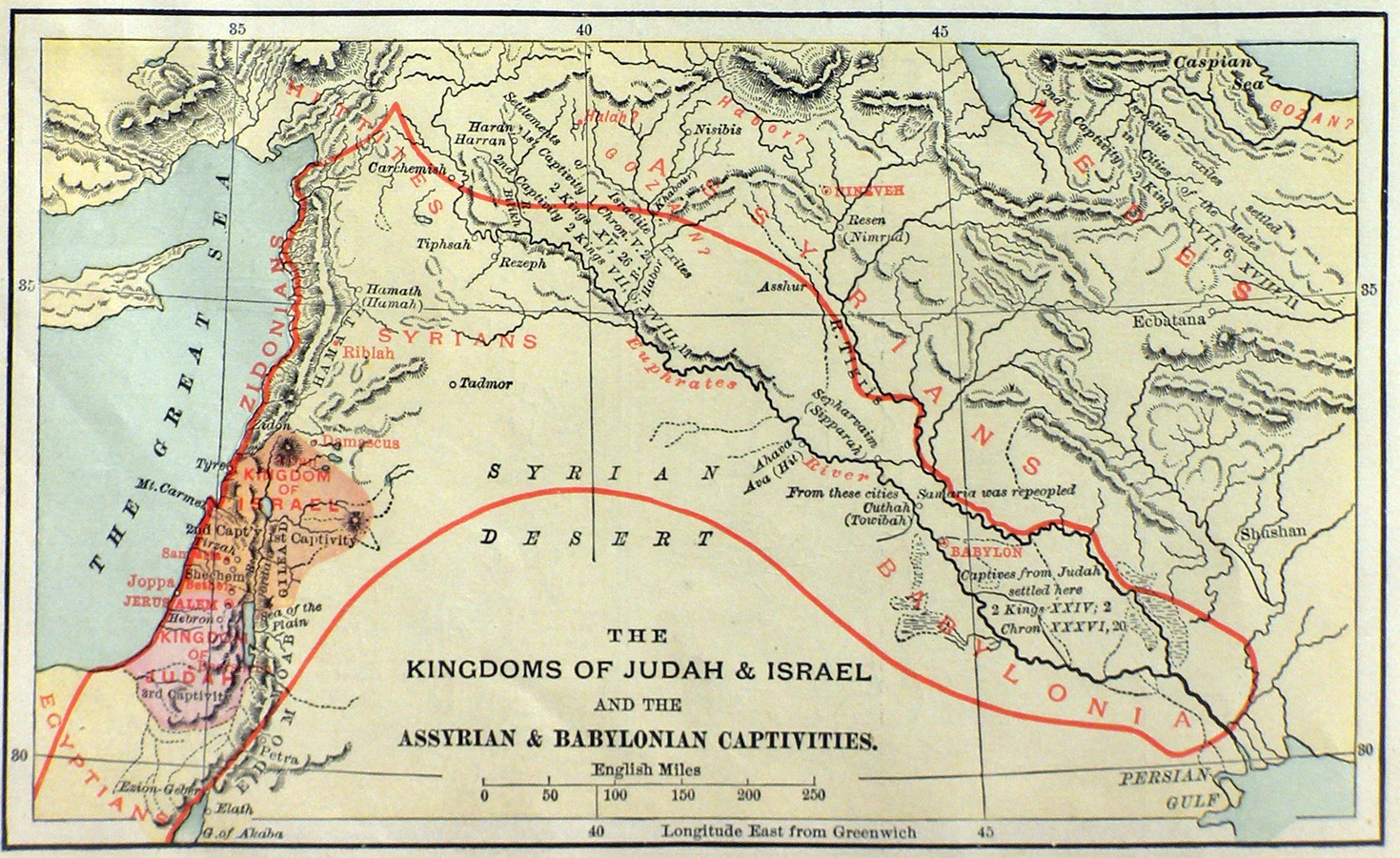 Pity, that the babylonian domination of judah can help