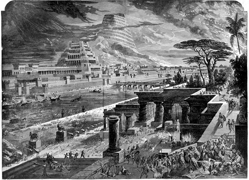 The conquest of Babylon by Cyrus the Persian. Click to enlarge.