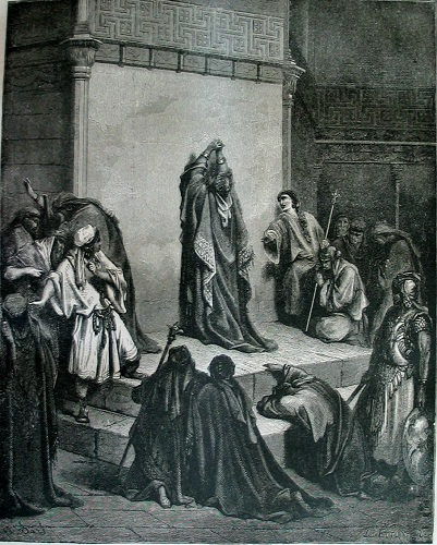 David mourning over Absalom. Click to enlarge.